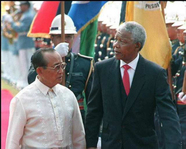 South African president Nelson Mandela in Manila in March 1997. File photo by AFP