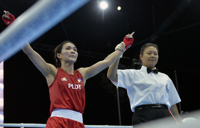 GOLDEN GIRL. Josie Gabuco remains unbeatable at the Southeast Asian level. Photo by Singapore SEA Games Organising Committee/Action Images via Reuters