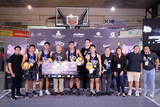 THREE-PEAT. Region 4A's U-16 men's 3x3 squad bags their third consecutive title in the annual competition. Photo by Samahang Basketbol ng Pilipinas