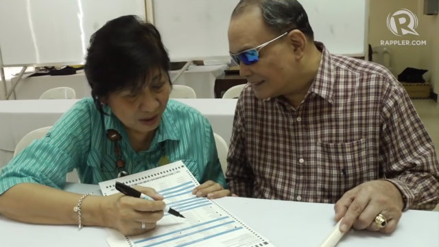 ASSISTANCE. PWDs and illiterate voters are allowed to have someone assist them while voting.