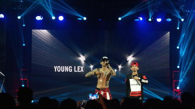 RAPPER. Penampilan Rapper Indonesia Young Lex di panggung YouTube FanFest Indonesia. Foto oleh Sakinah Ummu Haniy/Rappler