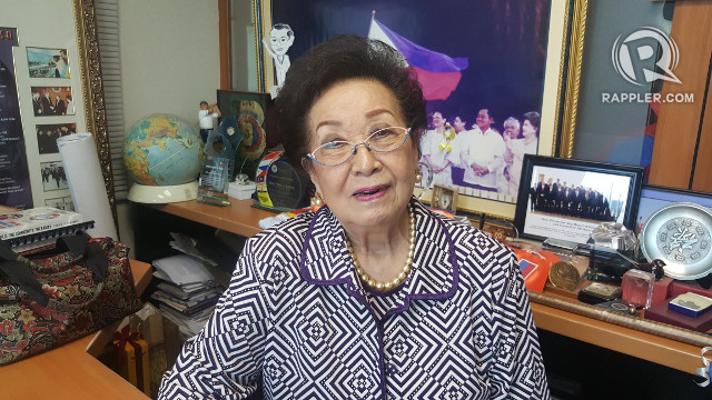 SHARING WISDOM. Rappler talks to Mrs Amelita Ramos about her experience as First Lady. Photo by Pia Ranada/Rappler
