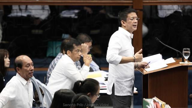 PASSED ON 3RD READING: Senator Francis Escudero meets own deadline to pass P2.6T budget for 2015. Senate photo