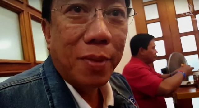 BACK THEN. Solicitor General Jose Calida is interviewed by Rappler as a member of Alyansang Duterte-Bongbong during the 2016 campaign. Photo by Pia Ranada/Rappler
