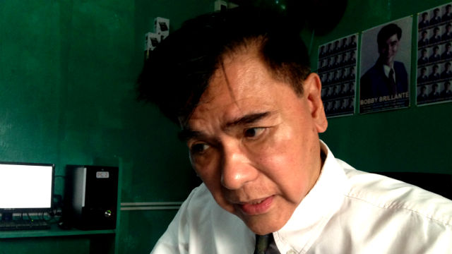 NON-PARTISAN. Brillante stresses he is not allied with the Binay family nor with Peu00f1a. Photo by Mara Cepeda/Rappler
