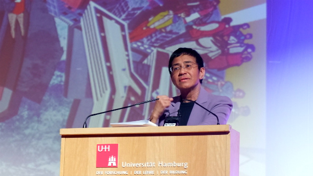 DEFEND DEMOCRACY. Rappler CEO Maria Ressa warns against the danger of not doing the right thing to counter disinformation and attacks on press freedom. Photo by Jodesz Gavilan/Rappler