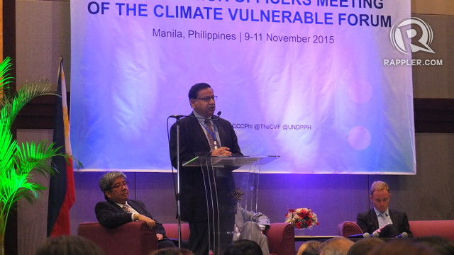MESSAGE TO THE VULNERABLE. Climate expert Dr Saleemul Huq says he strongly supports the call of vulnerable countries for a more difficult to achieve yet safer goal to combat climate change. Photo by Pia Ranada/Rappler