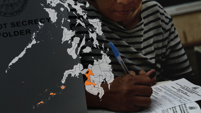 VOTING TREND. How did ARMM vote in the past? Background photo by Rolex dela Peu00f1a/EPA