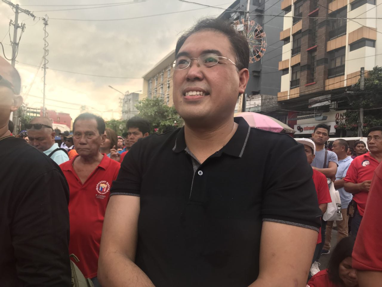 REVGOV. DILG Assistant Secretary Epimaco Densing III attends the rally in Mendiola on November 30 that calls for the declaration of a revolutionary government in transition to federalism. Photo by Rambo Talabong/Rappler
