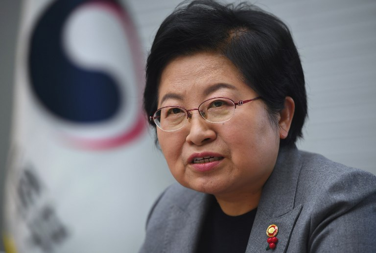 ENCOURAGING BABIES. South Korea's Family Minister Chung Hyun-Back is tasked with reversing the world's lowest birth rates. Photo by Jung Yeon-Je/AFP