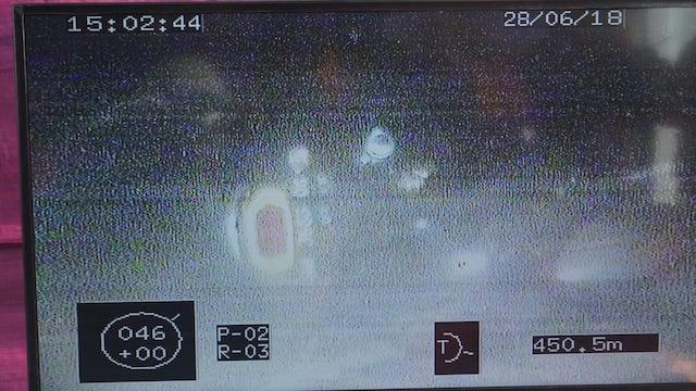 SEPEDA MOTOR. Foto sepeda motor tenggelam yang berhasil direkam Basarnas dengan alat ROV di lokasi tenggelamnya KM Sinar Bangun. Foto dari Basarnas