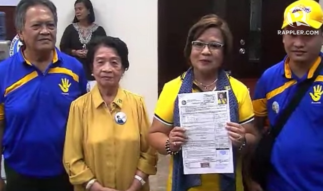 DILEMMA. The senator and her family have not yet informed their 85-year-old mother about her situation.