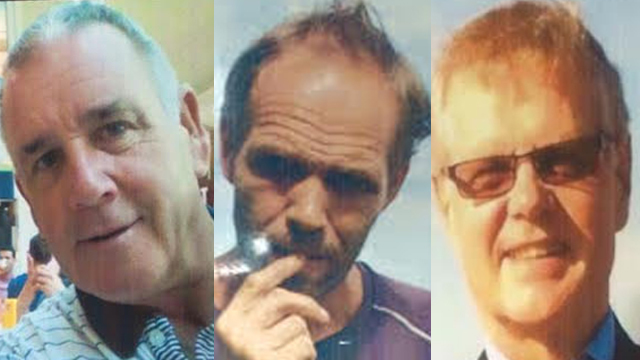 KIDNAPPED IN 2015. John Ridsdel, right, is beheaded by the Abu Sayyaf on April 25 after ransom talks failed. He was one of 3 foreigners kidnapped on Samal Island in Davao in September 2015. Left photo is fellow Canadian Robert Hall and middle is Norweigan Kjartan Sekkingstad. Photos from the PNP