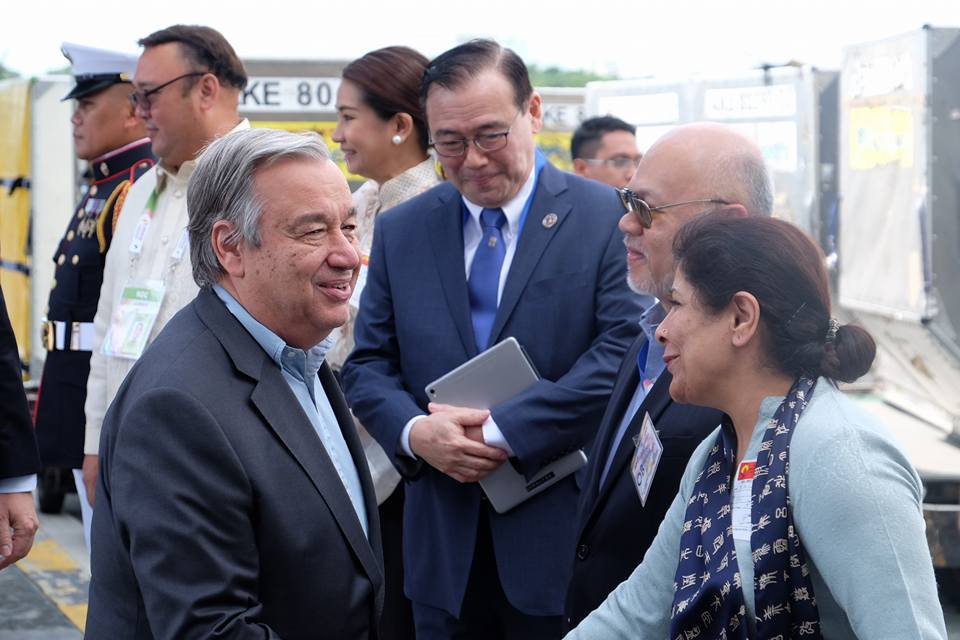 UN CHIEF. United Nations Secretary-General Antonio Gutteres arrives in the Philippines. Photo from UN Facebook Page