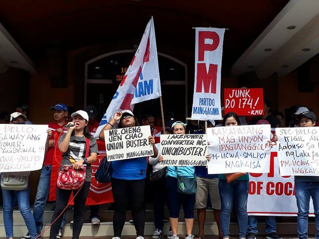 RESOLVED. Workers of Lakepower Converter Incorporated who went on strike will be reinstated, as a settlement is reached with the company. File photo from Partido Manggagawa