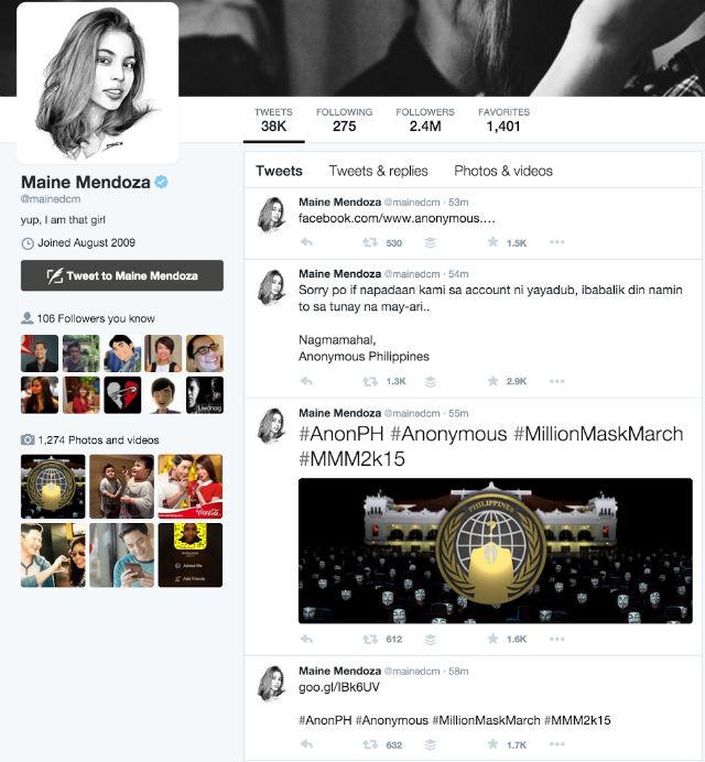 Screengrab from Twitter/Maine Mendoza