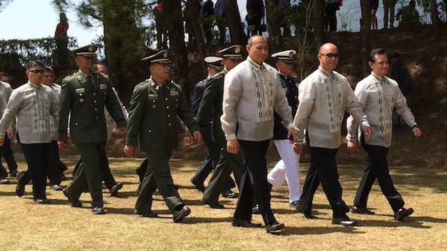 PMA 1995: Senator Antonio Trillanes joins the PMA homecoming (front, rightmost)