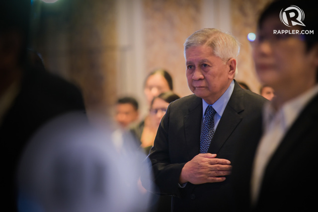 BARRED BY HK. File photo of former Philippine foreign secretary Albert del Rosario.  Photo by Alecs Ongcal/Rappler