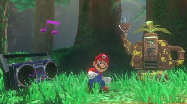 ODYSSEY. Super Mario Odyssey is slated for the summer season. Screen shot from Livestream.