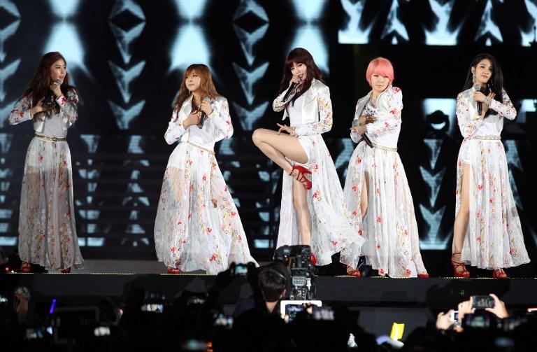 'Girlband' kpop 4Minute dikabarkan tidak akan memperpanjang kontrak mereka dengan Cube Entertainment. Foto Mohd Rasfan/AFP