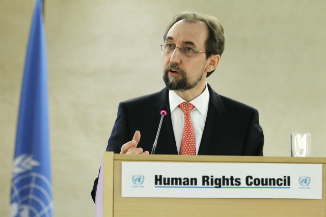 DEPLORE. Zeid Ra'ad Al Hussein, UN High Commissioner for Human Rights, urges the Philippines to cooperate with investigators. File photo by Pierre Albouy/UN Photo