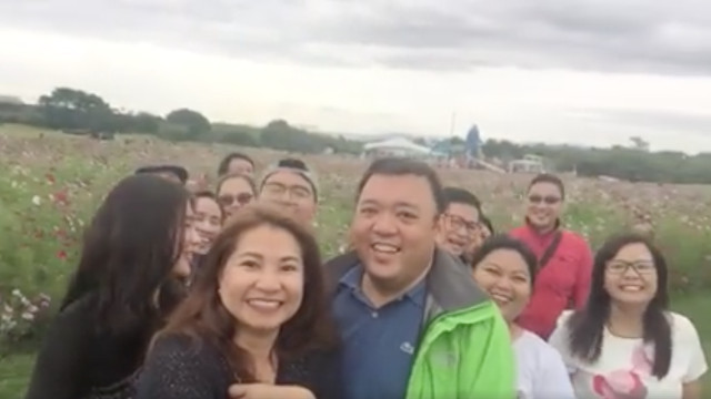 TRIP TO FUKUOKA. Then lawmaker Harry Roque goes to Fukuoka with his wife Myra and some former law officemates in October. Screenshot from Harry Roque Facebook video