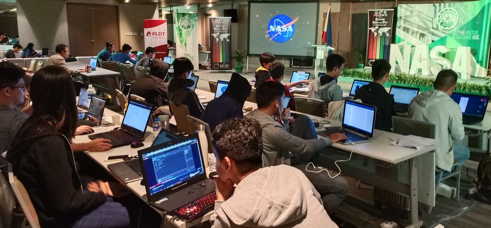 CHALLENGE. Pinoy hackers going deep into addressing real-world problems on Earth and space. Photo from DLSU