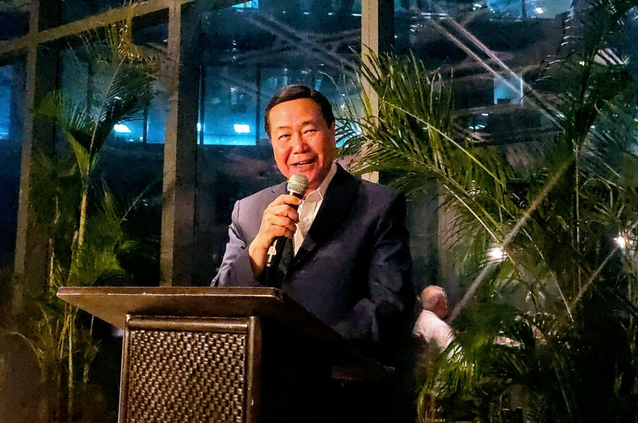 'TRUTH'. Retired SC Senior Associate Justice Antonio Carpio tells journalists on October 29, 2019, to tell the world about the u0022historical truthu0022 that China never owned or controlled the West Philippine Sea. Photo by Lian Buan/Rappler