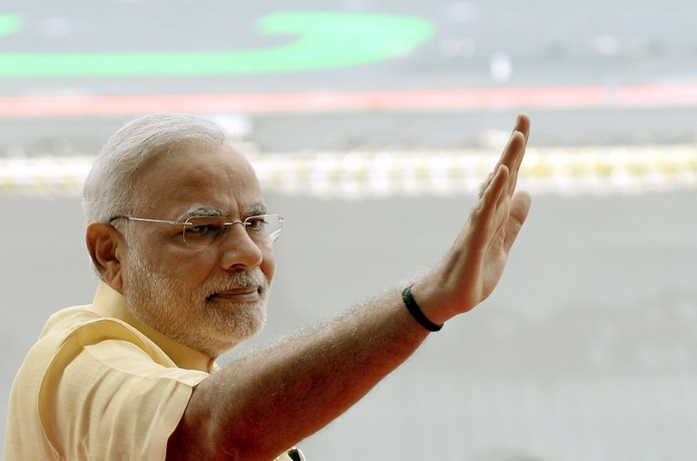 RE-FOCUSING. Indian Prime Minister Narendra Modi has focused the Indian economy on drawing overseas investment and manufacturing. File photo by Punit Paranjpe/File/AFP