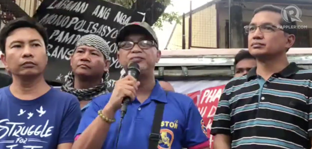 ILLEGAL STRIKE? Piston president George San Mateo vows to go on strike every month if President Rodrigo Duterte does not grant them a dialogue. Screenshot for Rappler video