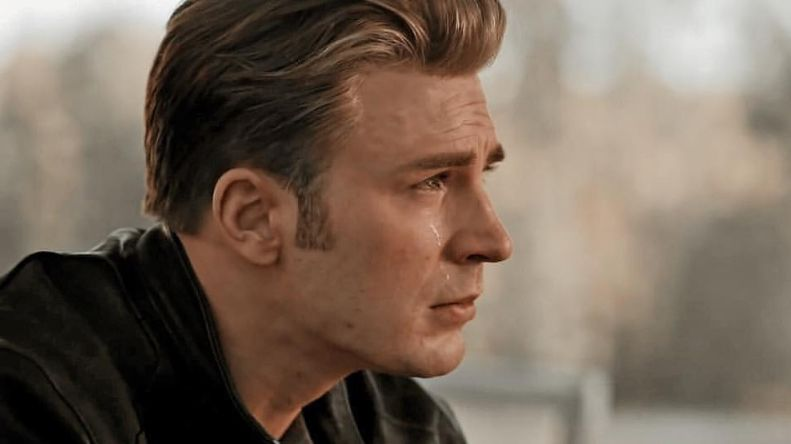CHRIS CRIES. Chris Evans shares his reaction to the first hour of 'Endgame'. Photo from Chris Evan's Instagram account