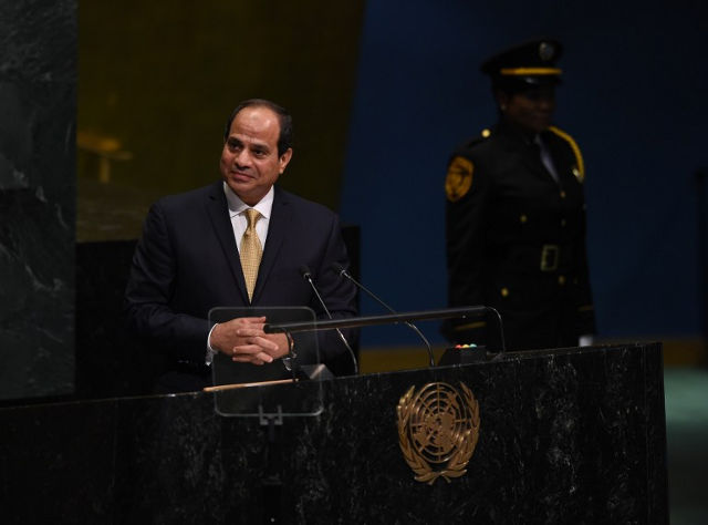 EXTENSION? Egyptian President Abdel Fattah al-Sisi won his first term as president in 2014 and was reelected in March 2018 with more than 97% of the vote. File photo by Timothy A. Clary/AFP