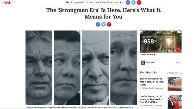 Screenshot from TIME website