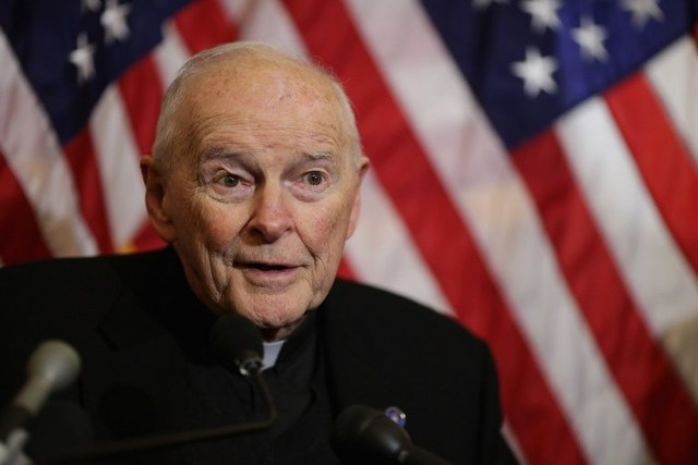 ABUSE. Evidence of sexual abuse was found against former US cardinal Theodore McCarrick of Washington. File photo by Chip Somodevilla/AFP