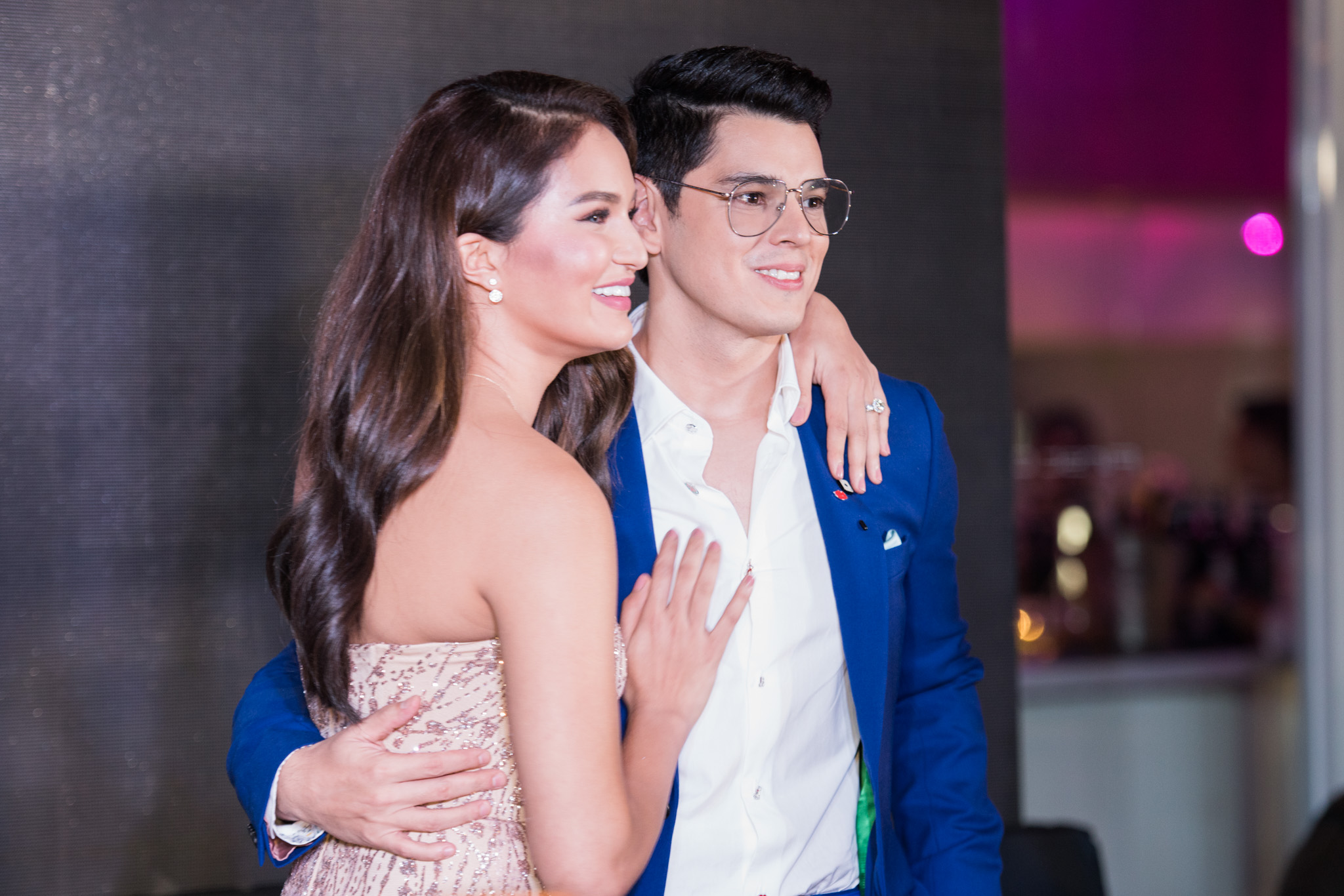 ENGAGED. The couple announce their engagement in 2017. File photo by Martin San Diego/Rappler