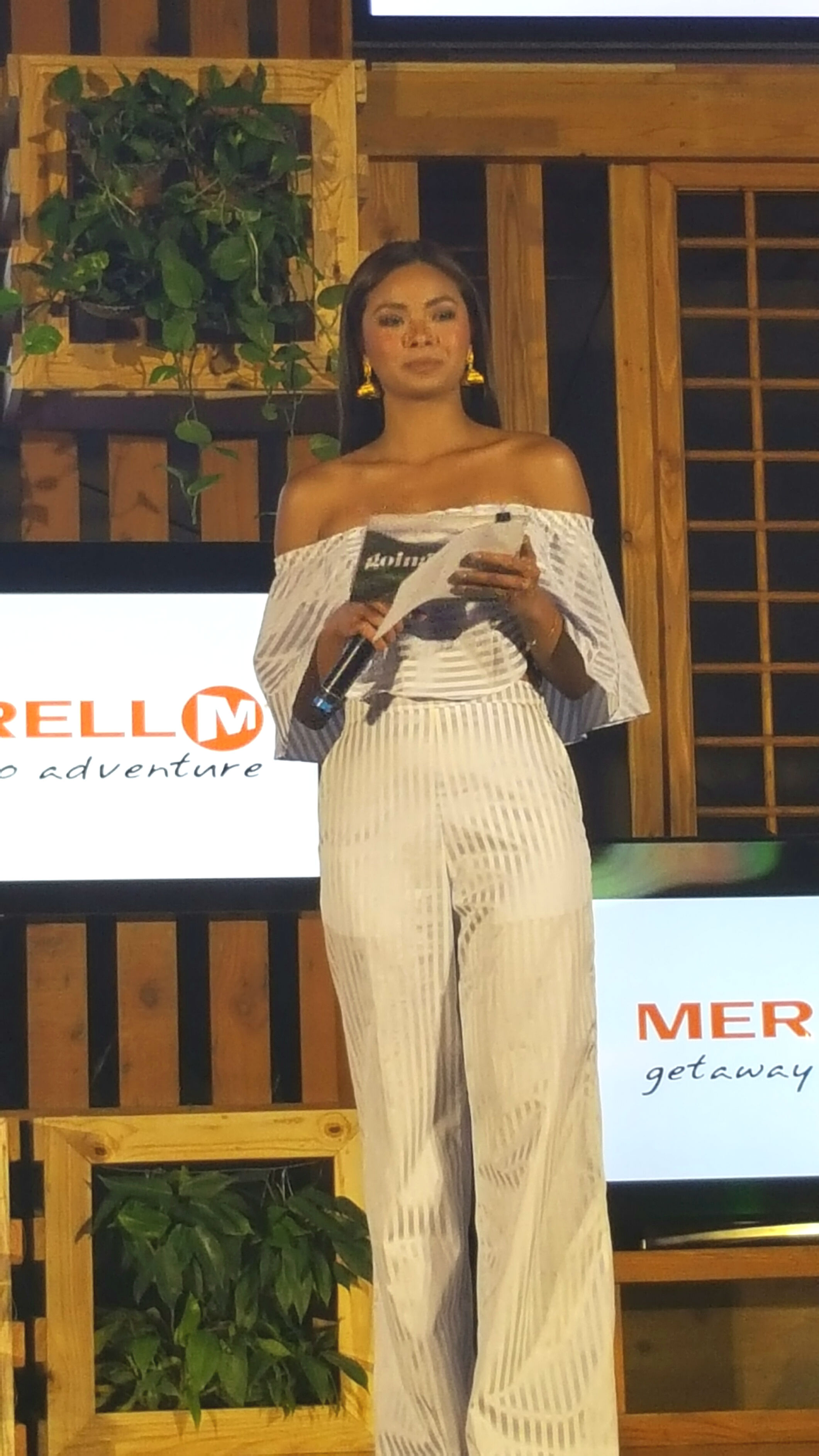 Maxine hosts the 'GoingPlaces' magazine launch at the Manila Hotel on June 1. Photo by Alexa Villano/Rappler