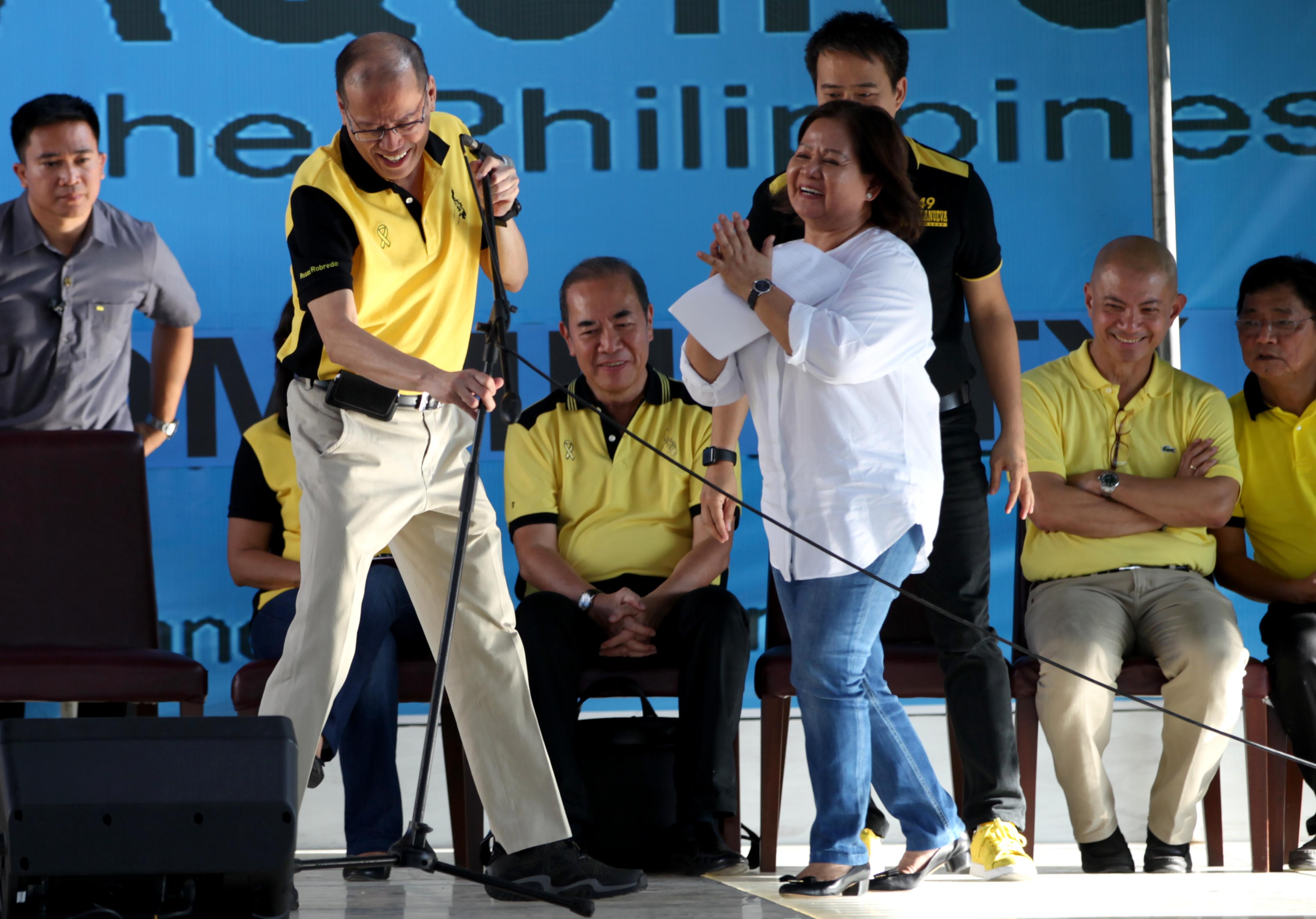 SUPPORT. Liberal Party (LP) chairman President Benigno S. Aquino III delivers his speech during the Meeting with Local Leaders at the San Fernando City Pampangga Thursday, March 16, 2016. (Photo by Benhur Arcayan /Malacanang Photo Bureau)