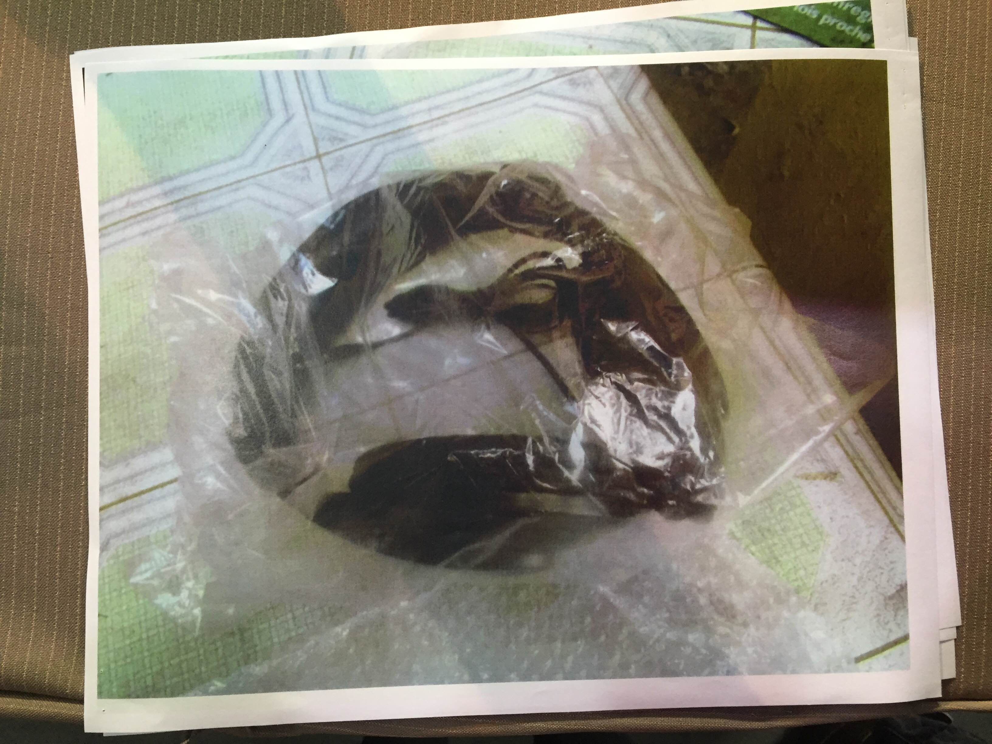 WIRE. The INC also shows a photo of a wire supposedly retrieved from the supplies being sent to the Manalos. Photo by Mara Cepeda/Rappler