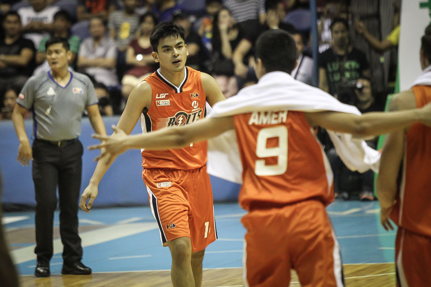 BOLT OF ENERGY. Meralco rookie Jonathan Grey has stepped up. File photo by Josh Albelda/Rappler