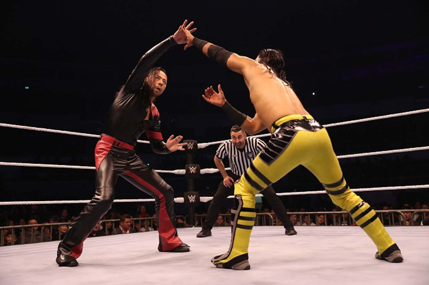 SUCCESS. Shinsuke Nakamura defends his WWE Intercontinental Championship title over Ali. Photo from release
