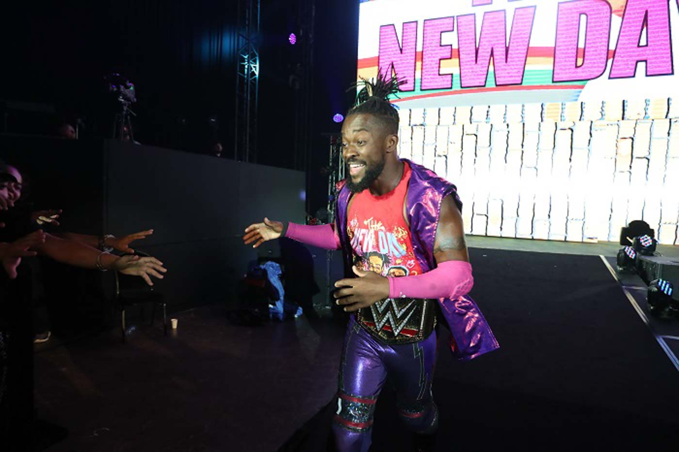 TITLE DEFENSE. Kofi Kingston retains the WWE World Heavyweight Championship in Manila. Photo from release
