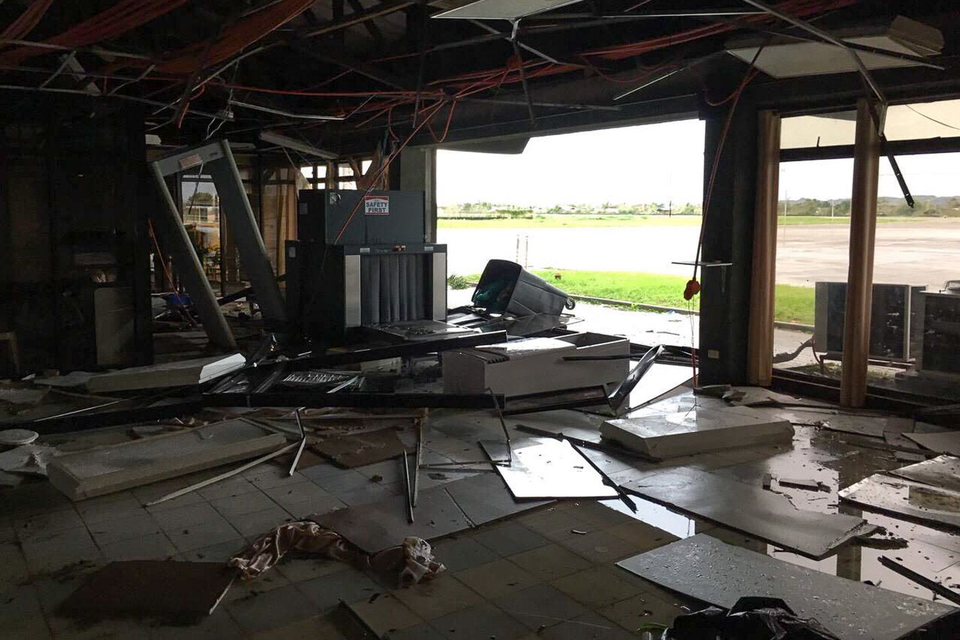 BATTERED. The Tuguegarao Airport is extensively damaged during the onslaught of Typhoon Ompong on September 15, 2018. Photo by Asec Giovanni Lopez/DOTr