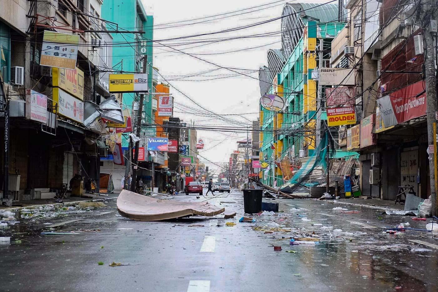 DEVASTATION. Establishments in Tuguegarao City, Cagayan, after Typhoon Ompong  made landfall. Photo by Lester Joseph Mora Ballad