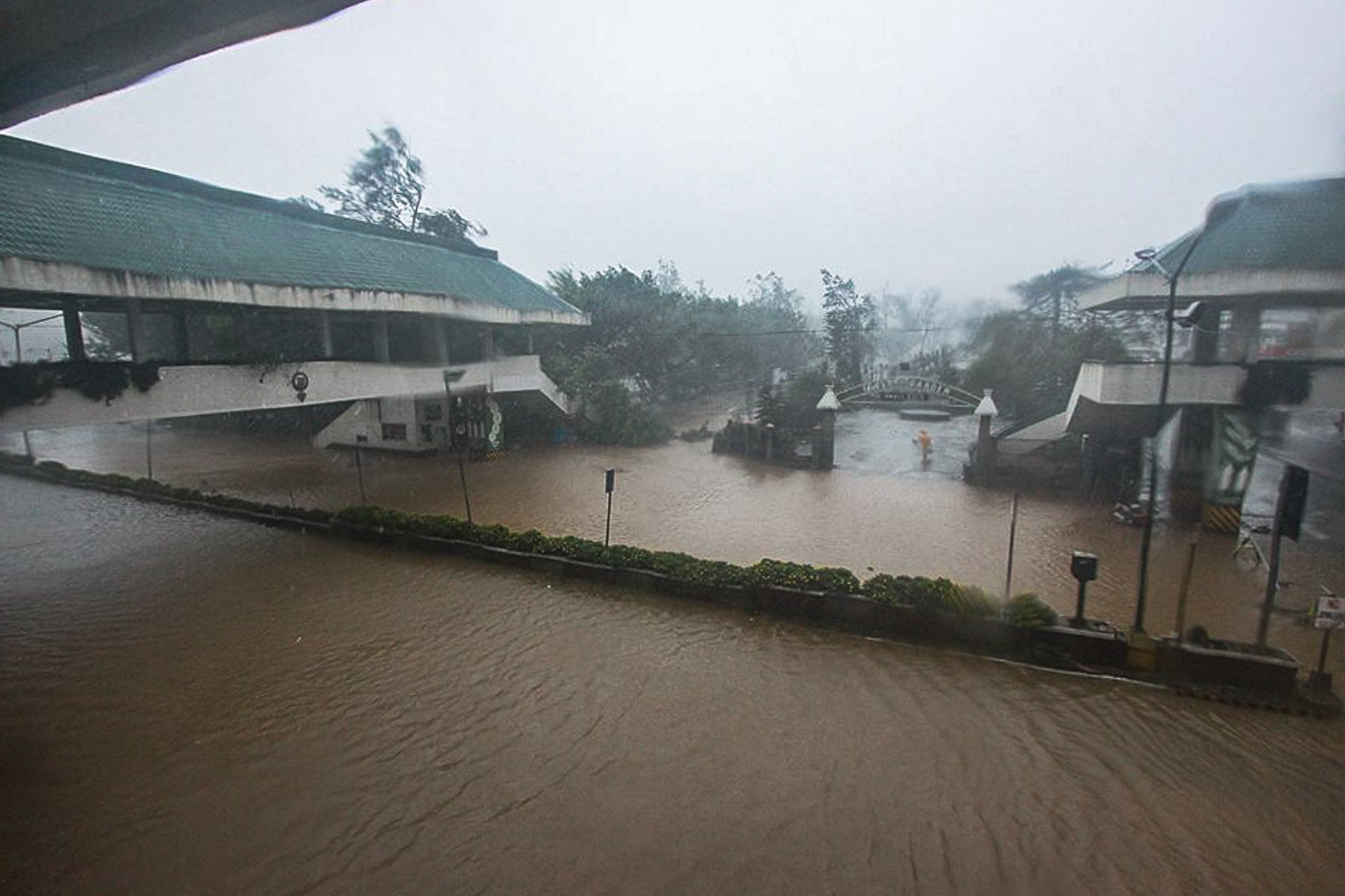 WATERWORLD. Baguio City is submerged in floods due to rains. Photo by Kathrine Victa