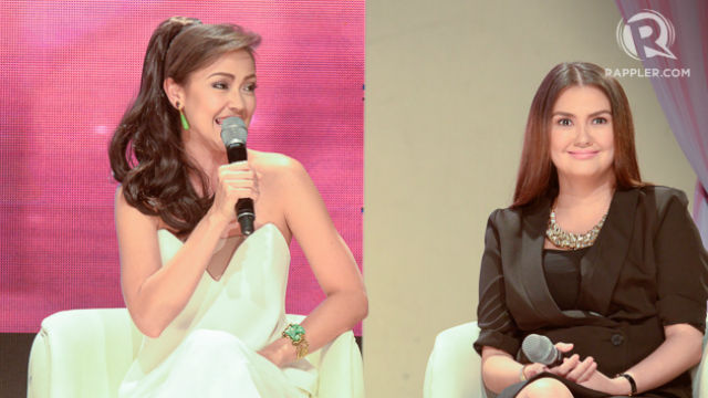 THE NEW AMOR AND CLAUDIA. Jodi Sta. Maria and Angelica Panganiban take on the role of Amor Powers and Claudia Buenavista in the new 'Pangako Sa'Yo.' File photo by Rob Reyes/Rappler