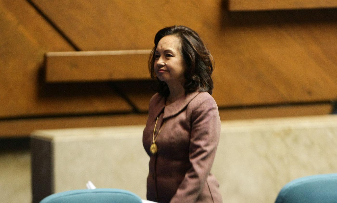 STILL ANTI-DEATH PENALTY. Not even Speaker Pantaleon Alvarez' threat stopped Deputy Speaker Gloria Macapagal-Arroyo from voting no to HB 4727. Photo by Jasmin Dulay/Rappler
