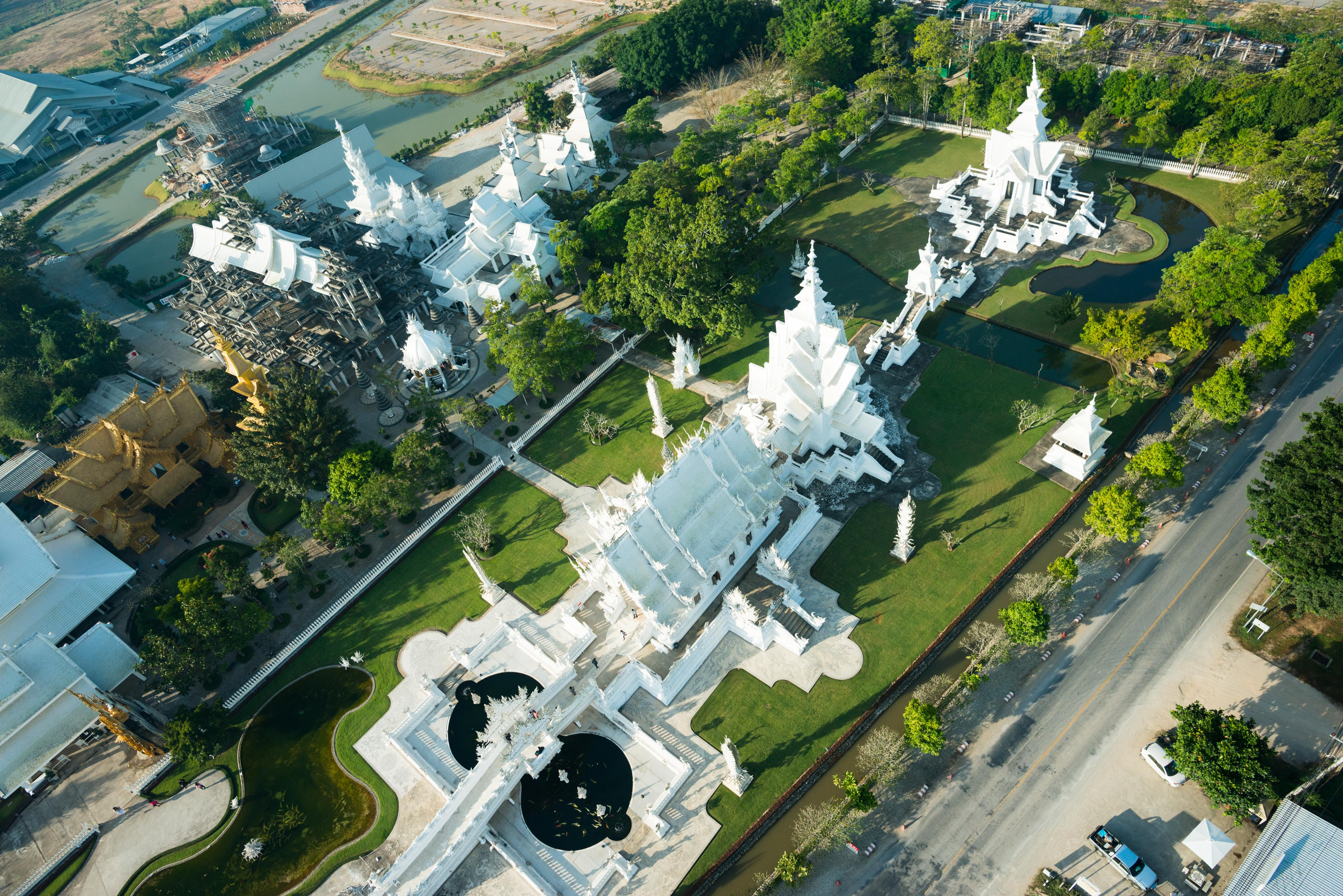 WAT RONG KHUN. The White Temple is a Buddhist temple in the Chiang Rai province. Photo courtesy of the Tourism Authority of Thailand