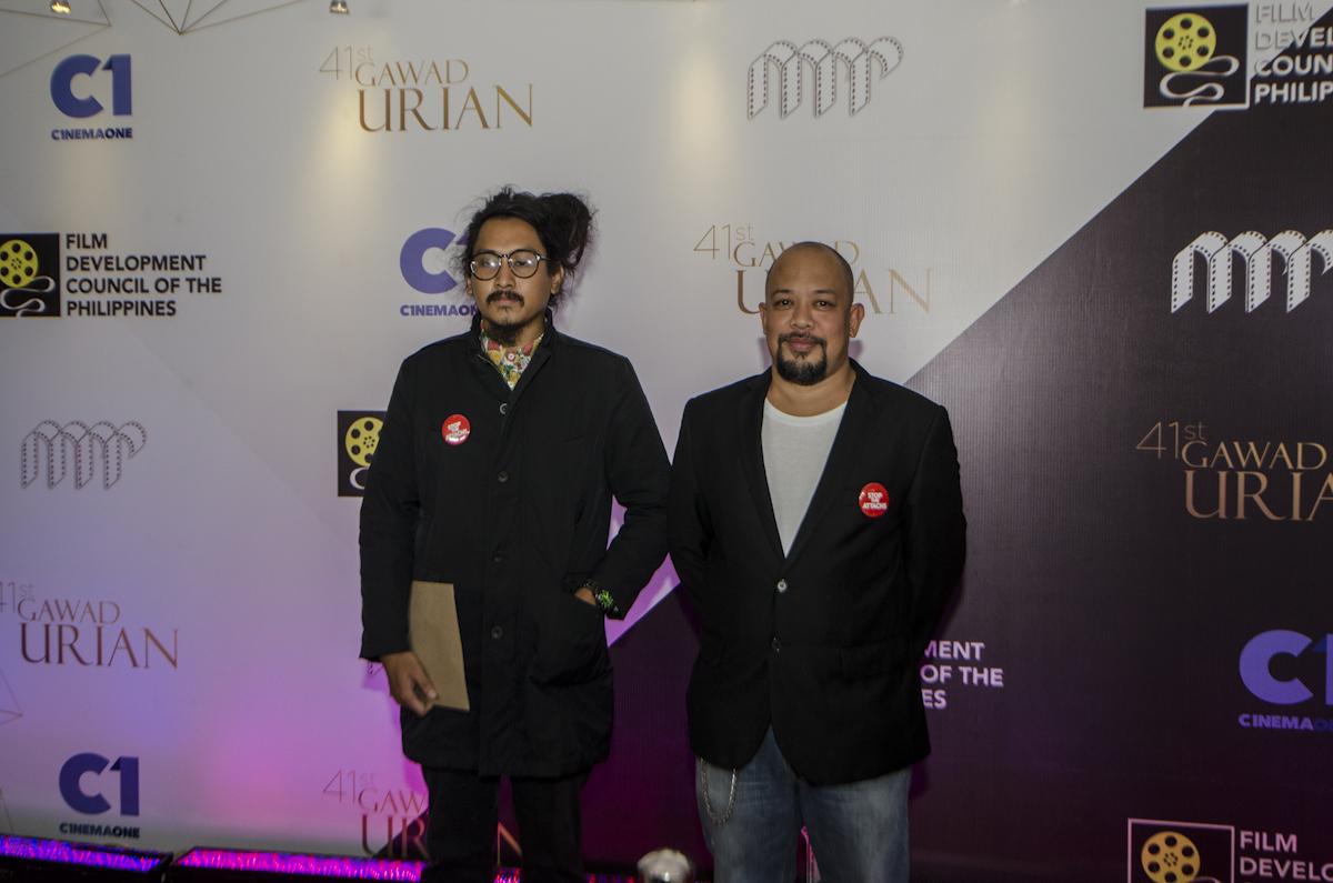 NOMINEES. JL Burgos and Lucan villanueva, production of the 'Han-ayan.'