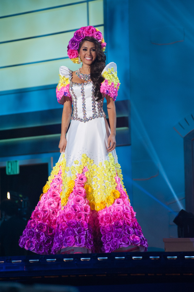 PANABENGA INSPIRED. Mary Jean Lastimosa, Miss Philippines 2014, debuts her National Costume during the Miss Universe National Costume Show at the FIU Arena on Wednesday January 21, 2014. Photo from the Miss Universe Organization