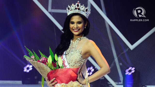 UNDERDOG. Hillarie Parungao after being crowned Miss World Philippines 2015. File photo by Rob Reyes/Rappler